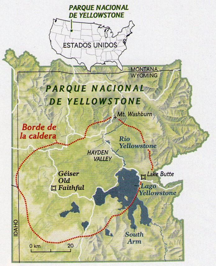 Yellowstoneko supersumendi ezkutua
